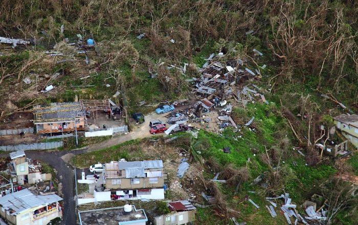 techos, destrucción, casas