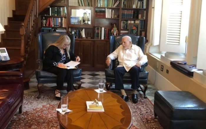 Romero Barceló acude a reunión en Fortaleza