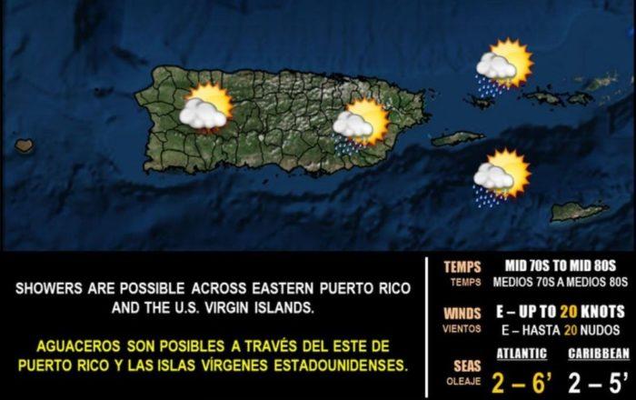 Onda tropical débil se mueve por el Caribe