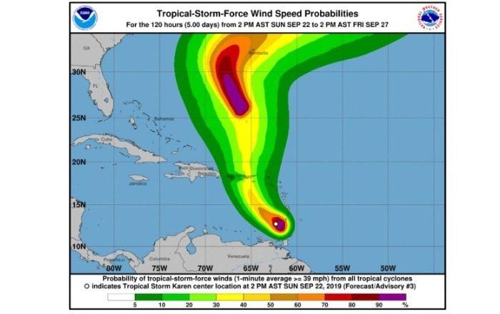 Cayey hace llamado a prepararse para el paso de la tormenta Karen