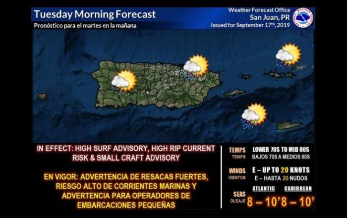 Onda tropical causará aguaceros y tronadas