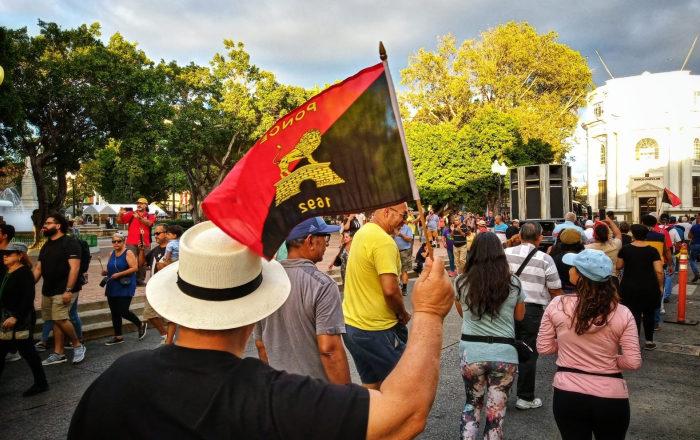 Sureños realizan manifestación para repudiar la acción del Gobierno al no entregar suministros