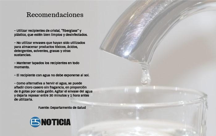 Recomendaciones sobre el manejo del agua durante racionamiento