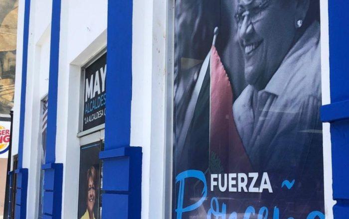 Denuncian vandalismo en comité de campaña de Mayita