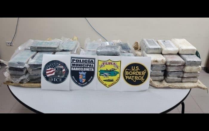 Confiscan 77 kilos de cocaína de dos embarcaciones en Barceloneta