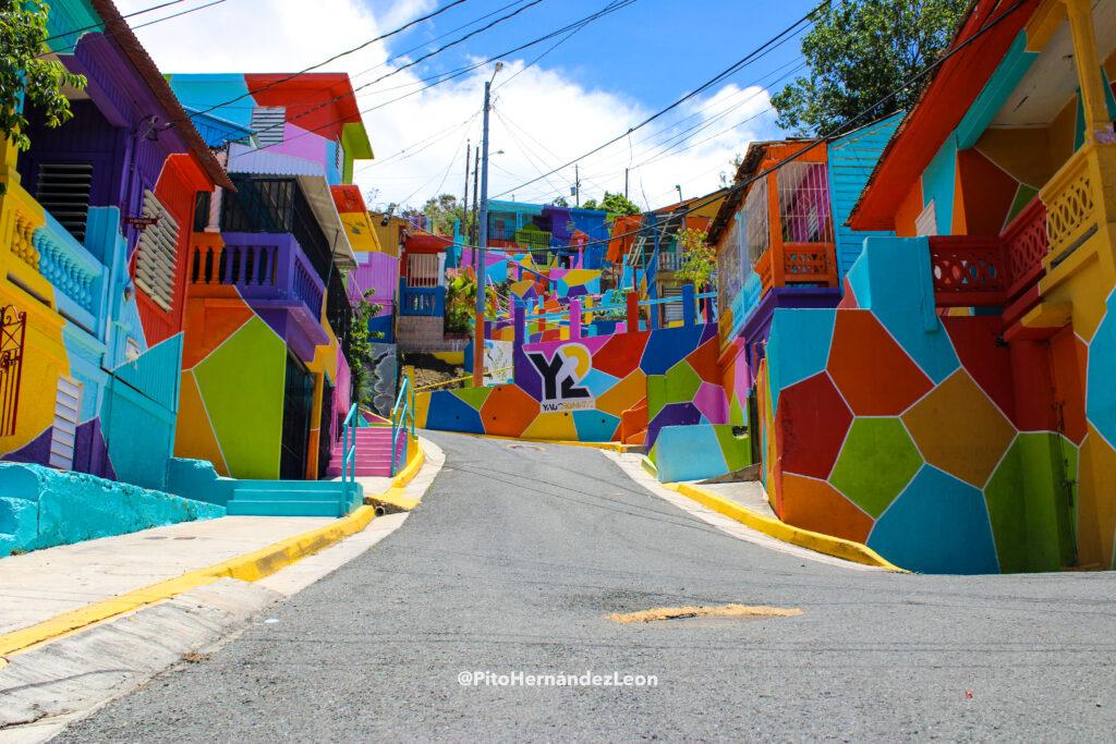 Macromural diseñado por Samuel González y realizado por vecinos y voluntarios del sector Cantera del Cerro.