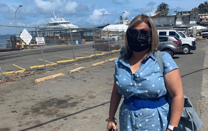 Senadora visita a Vieques