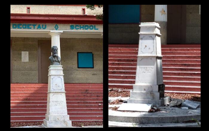 Denuncian apropiación ilegal de escultura de escuela en Ponce