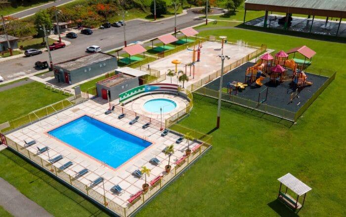 Villalba inaugura área recreativa acuática para niños